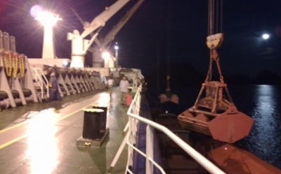 Night time discharging cargo